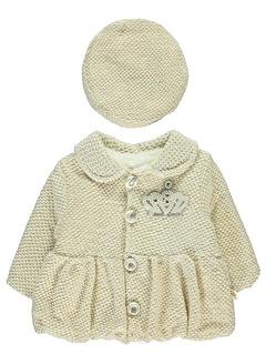 Minidamla Minidamla Kız Bebek Bereli Mont 1-9 Ay Ekru Minidamla Kız Bebek Bereli Mont 1-9 Ay Ekru
